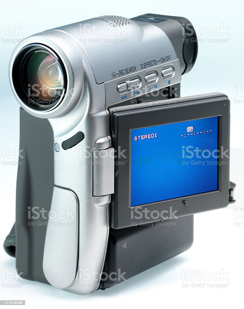 Camcorder with Display stock photo