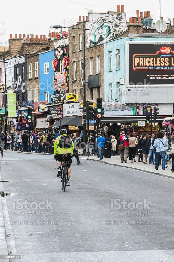 Camden by bike royalty-free stock photo