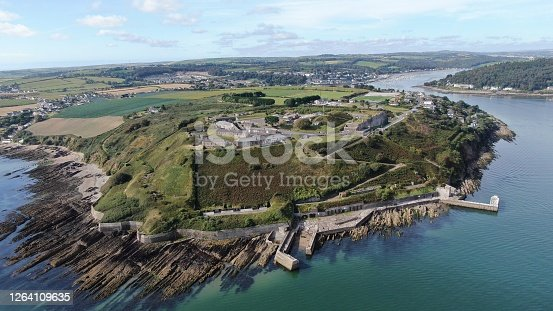 Drone shot of Camden Fort and Cork harbour