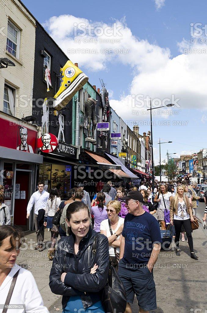 Camden High Street, London stock photo