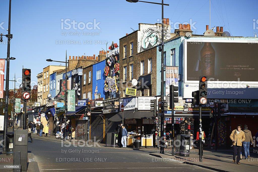Camden High Street London stock photo