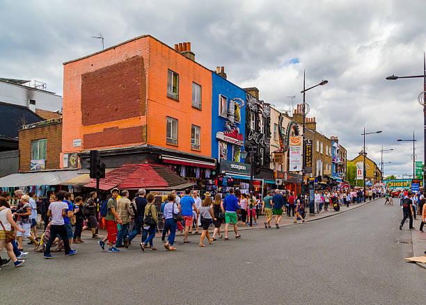 Camden High Street stock photo