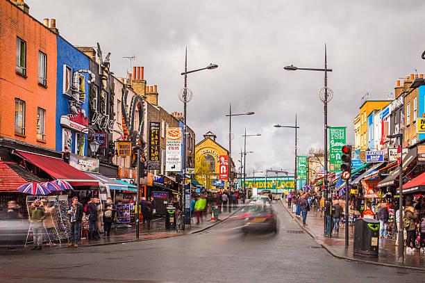 Camden Town in London stock photo