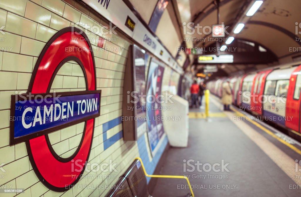 Camden Town London Underground Station stock photo