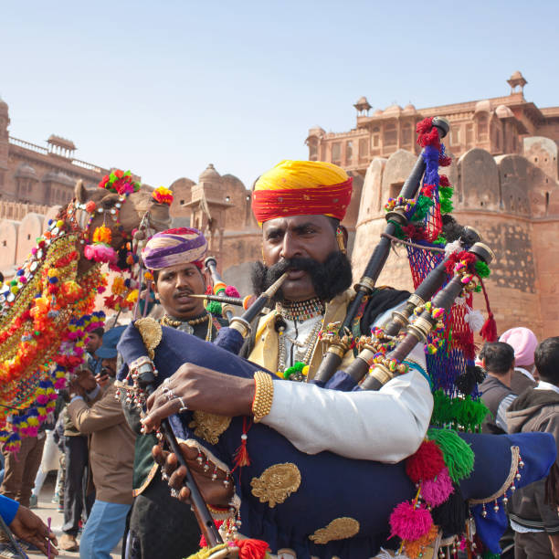 Camel festival in Rajasthan state, India stock photo