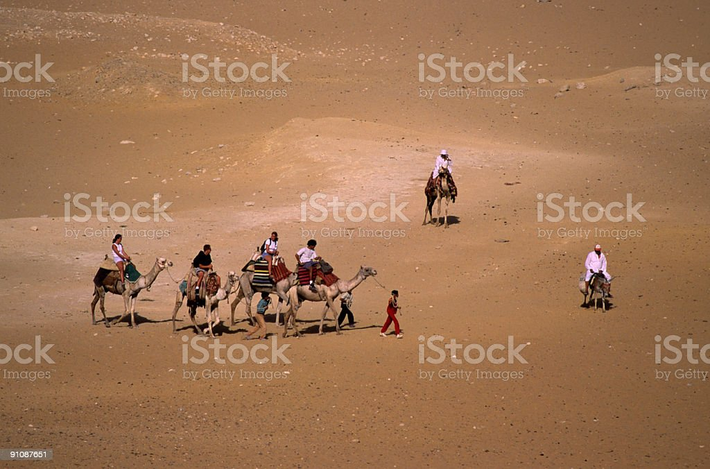 Camel Riders royalty-free stock photo