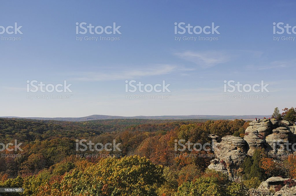 Camel Rock in Garden of the Gods Wilderness Southern Illinois stock photo