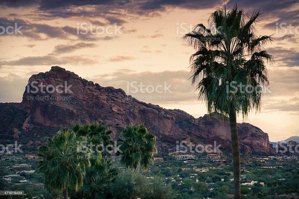 Camelback Mountain Phoenix,Arizona stock photo