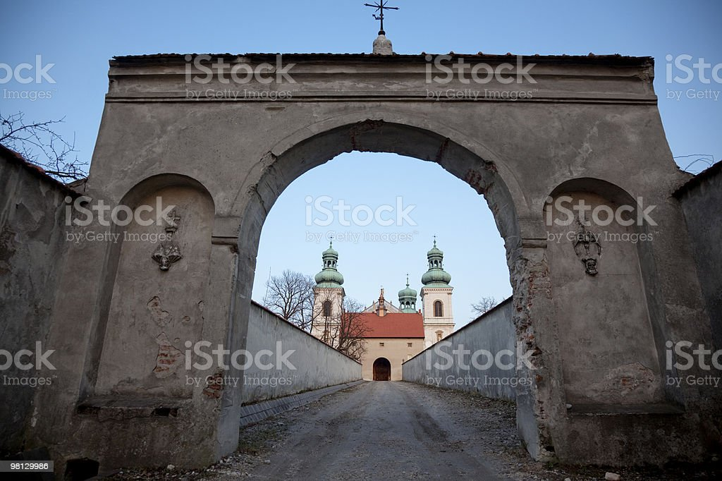 Camelodite monastery's gate, Cracow royalty-free stock photo