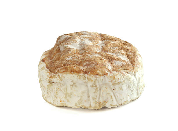 Camembert calvados Camembert calvados  cheese  isolated on white background calvados stock pictures, royalty-free photos & images