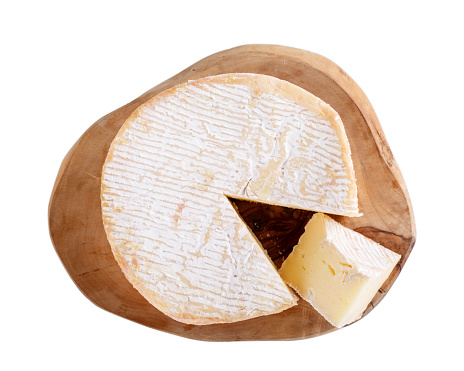 Camembert Cheese Isolated On White Soft French Cows Milk Cheese From Normandy Top View Stock Photo Download Image Now Istock