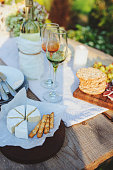 istock camembert cheese with bread sticks served on summer outdoor garden party 1125372799