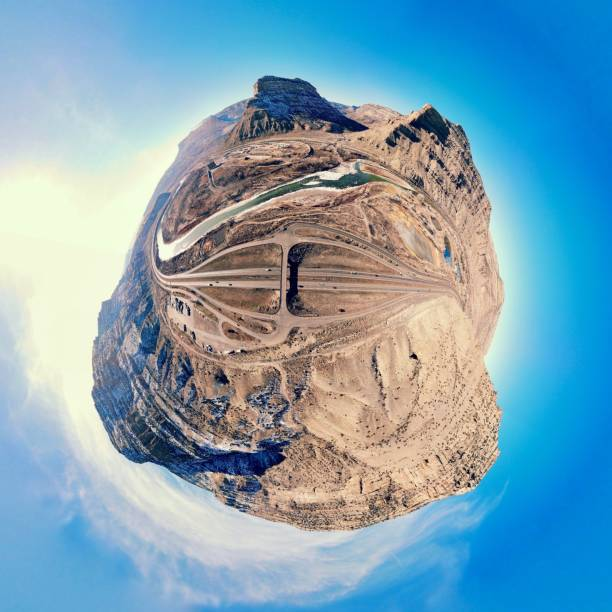 Cameo, Colorado, Tiny Planet stock photo