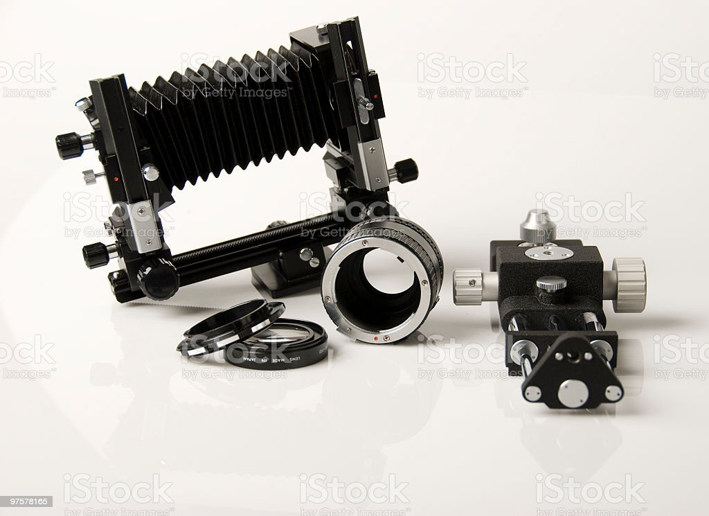Camera Accessories and Bellows royalty-free stock photo