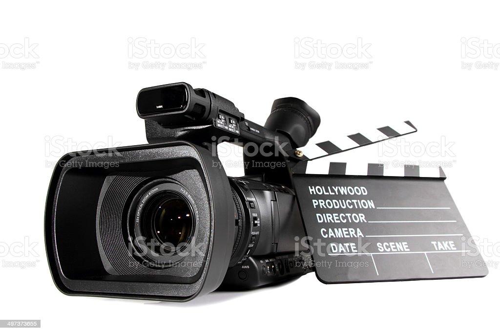 Camera & action! stock photo