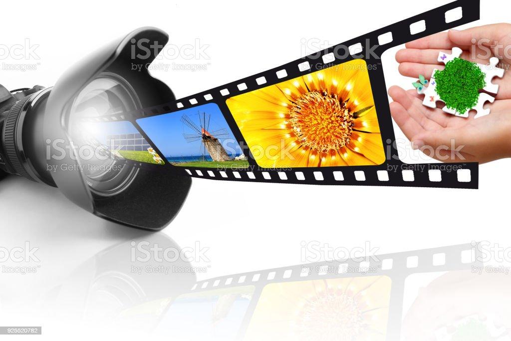 Camera and film stock photo