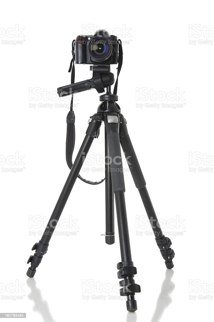 Camera and Tripod stock photo