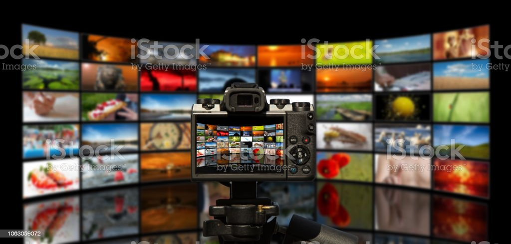 Camera And Wall From Tv Sets Black Stock Photo Download Image Now Istock