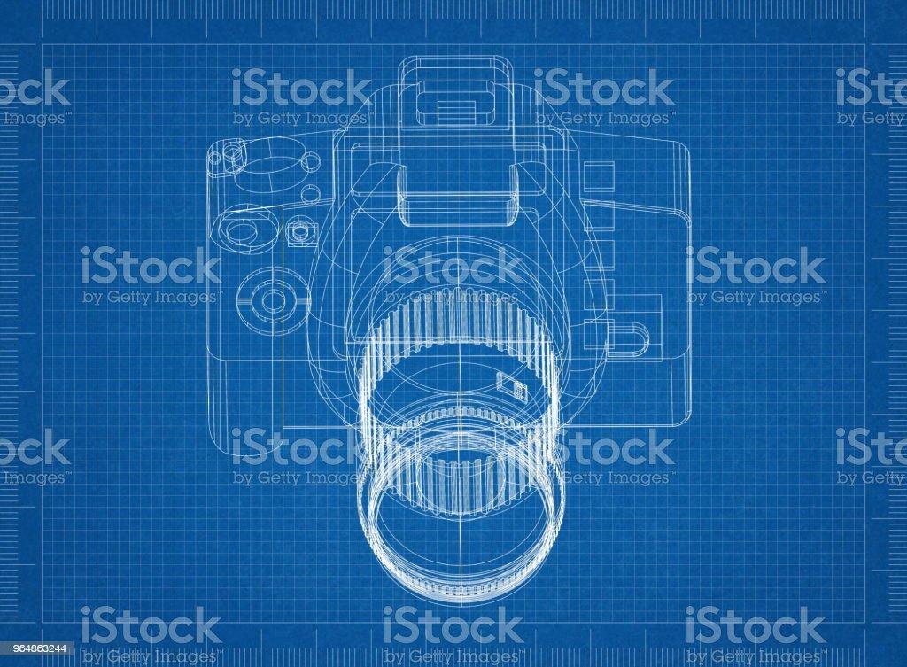 Camera Architect blueprint royalty-free stock photo
