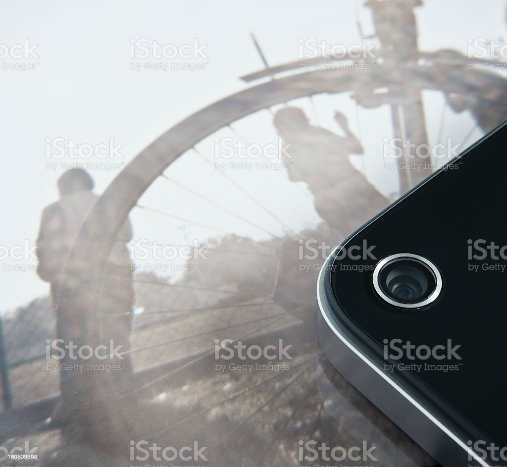 Camera Close Up On The Back Of A Smart Phone royalty-free stock photo