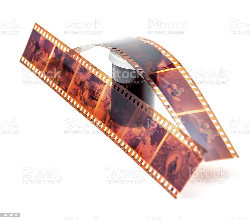 Camera Film and roll container stock photo