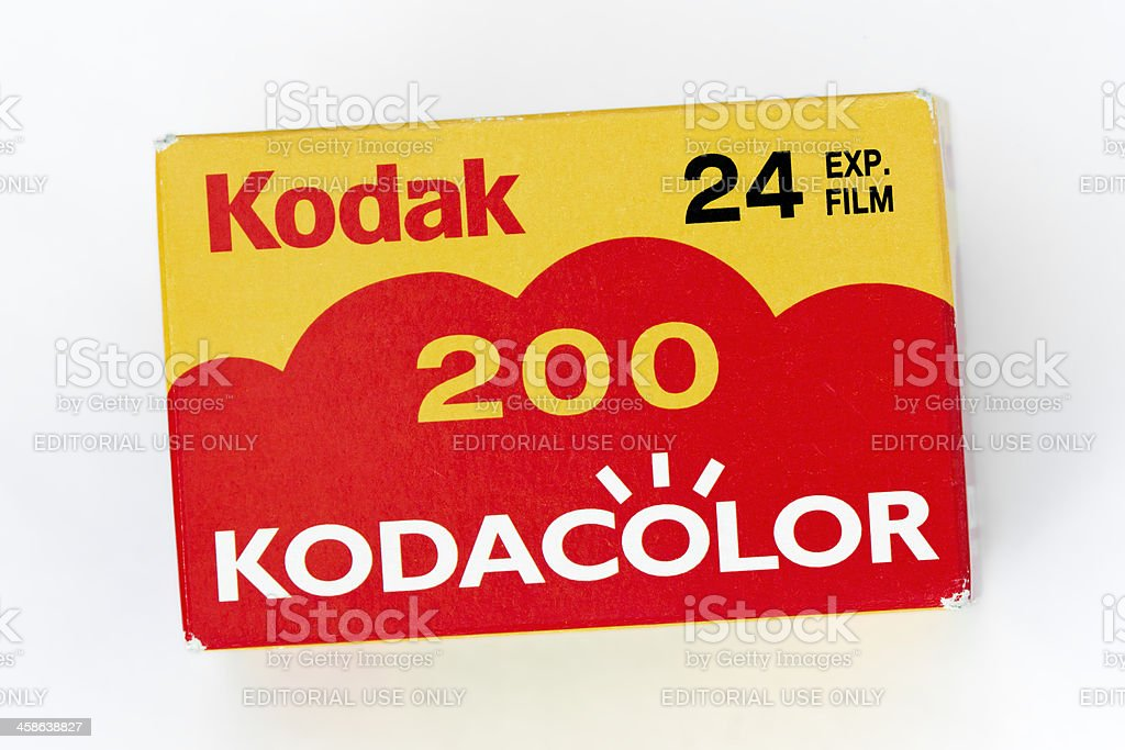 KODACOLOR camera film ISO 200, 24 exp. royalty-free stock photo