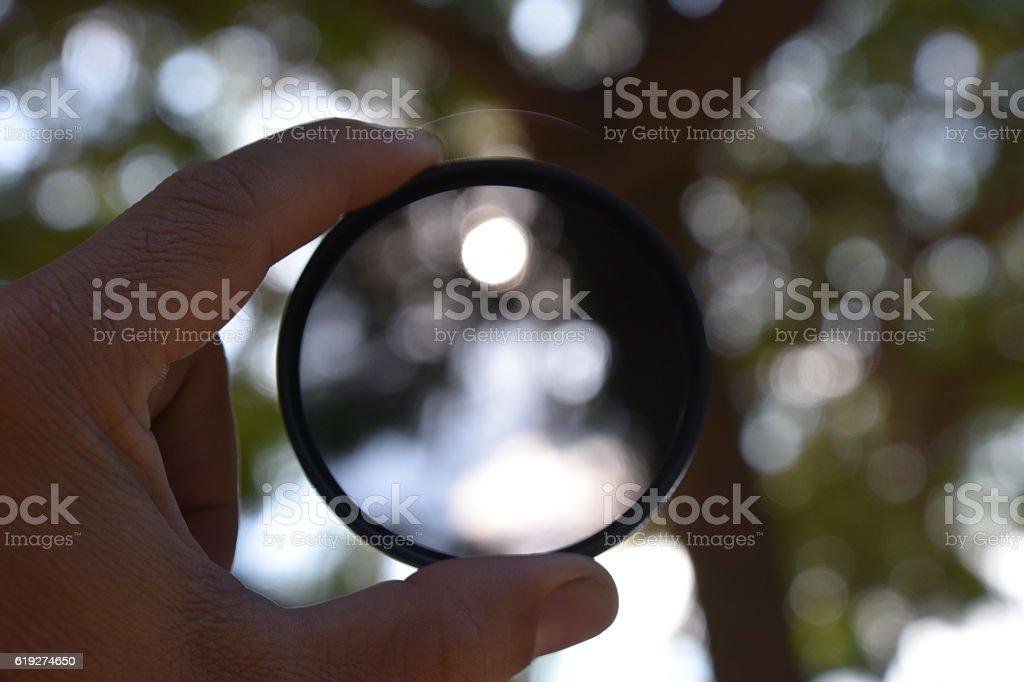 Camera filter stock photo