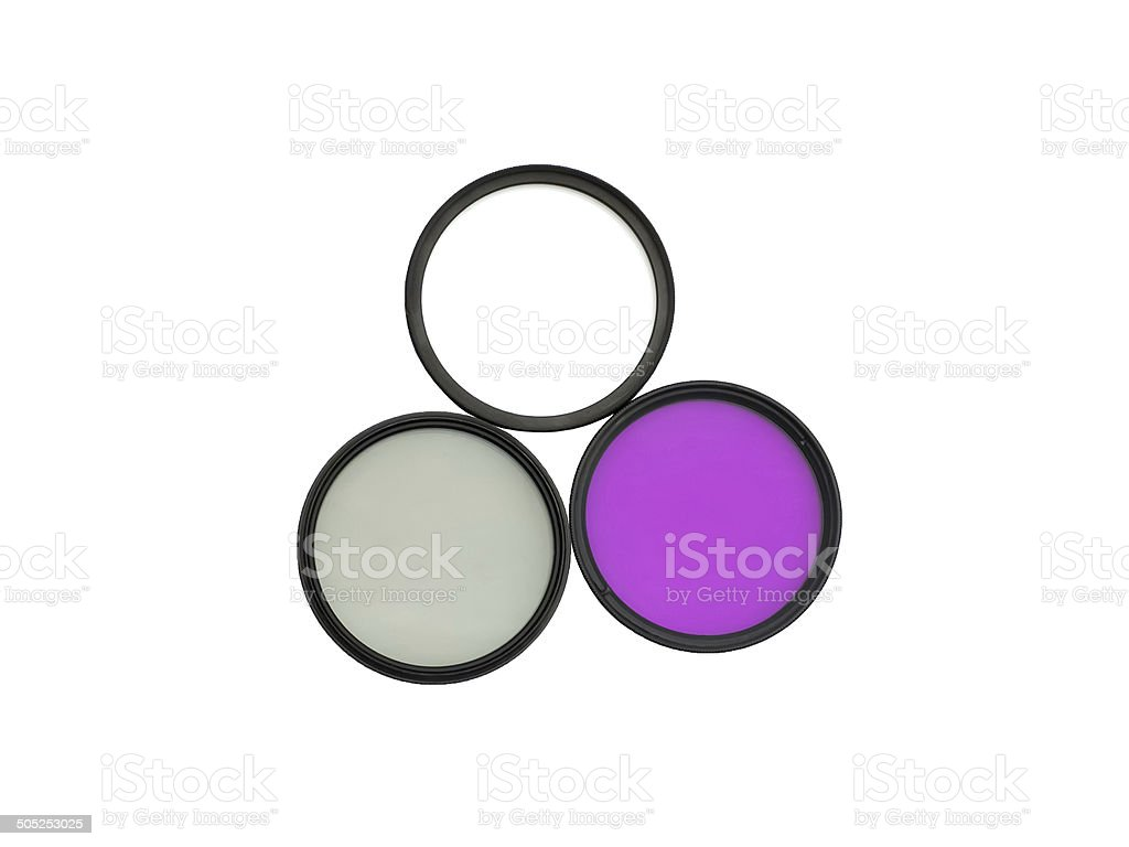 Camera filters stock photo