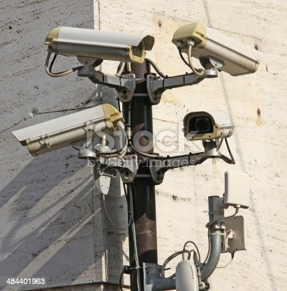 Camera for video surveillance and control with wireless connection to the control unit of the police