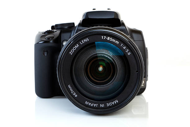 DSLR Camera - front view stock photo