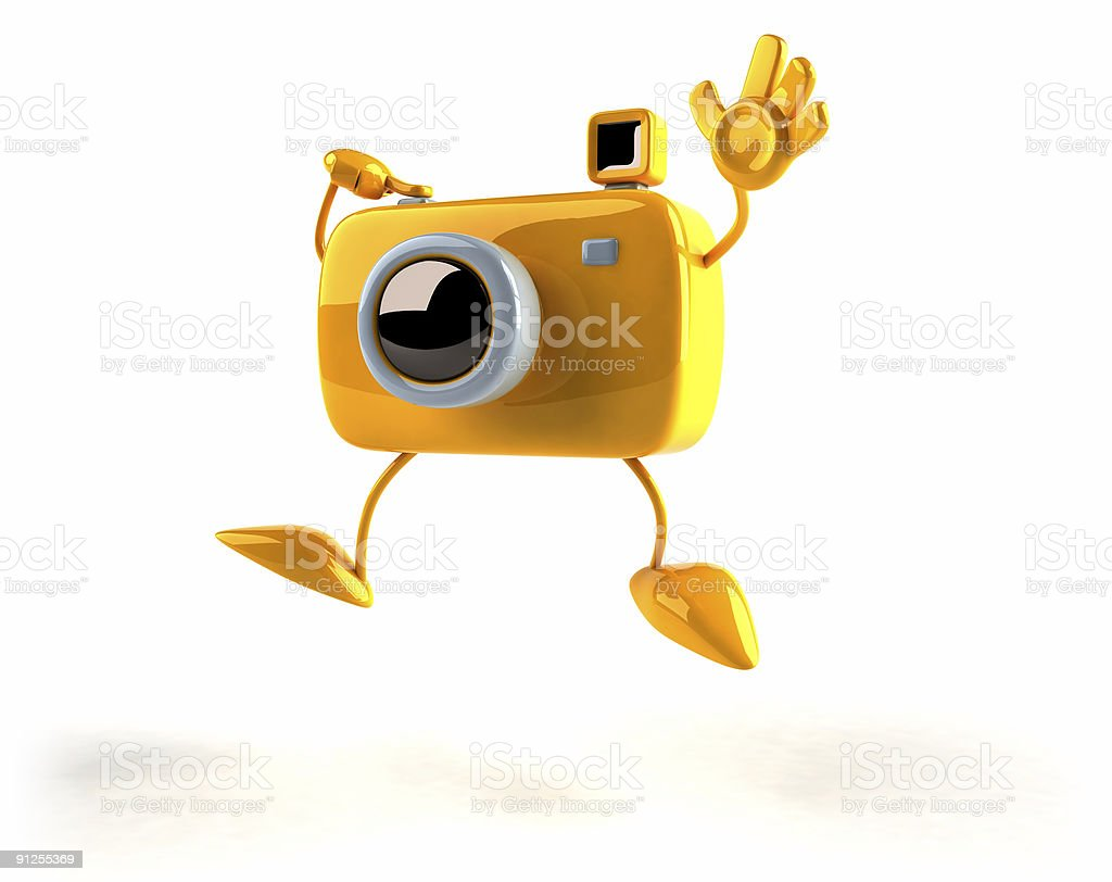 3D camera in a fun pose royalty-free stock photo