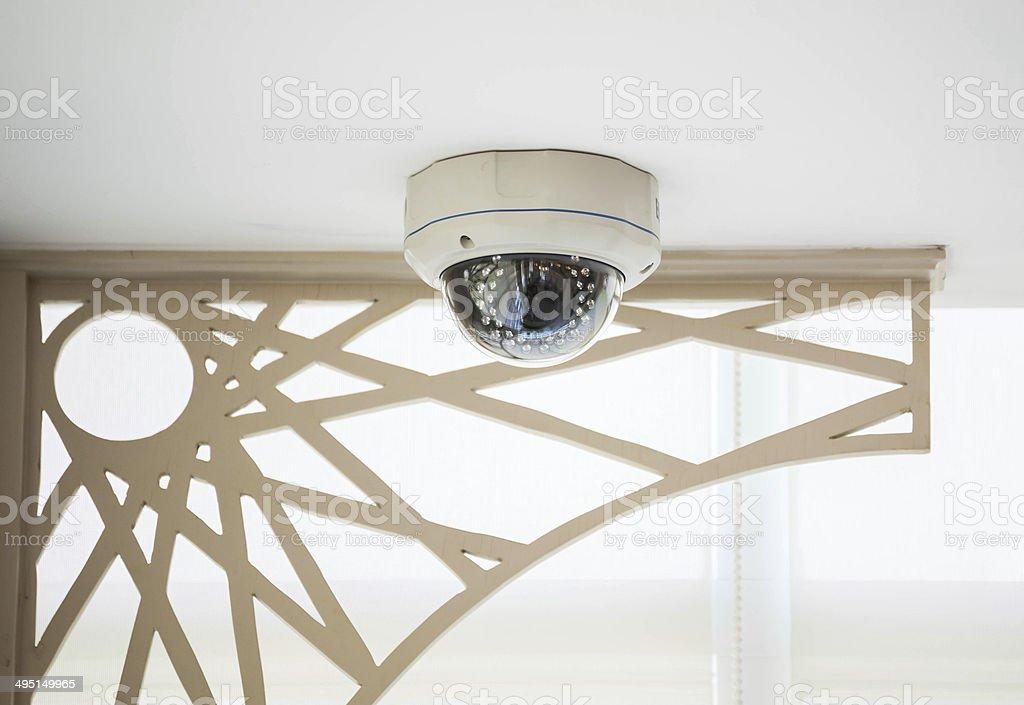 CCTV Kamera im Gebäude in side hotel – Foto