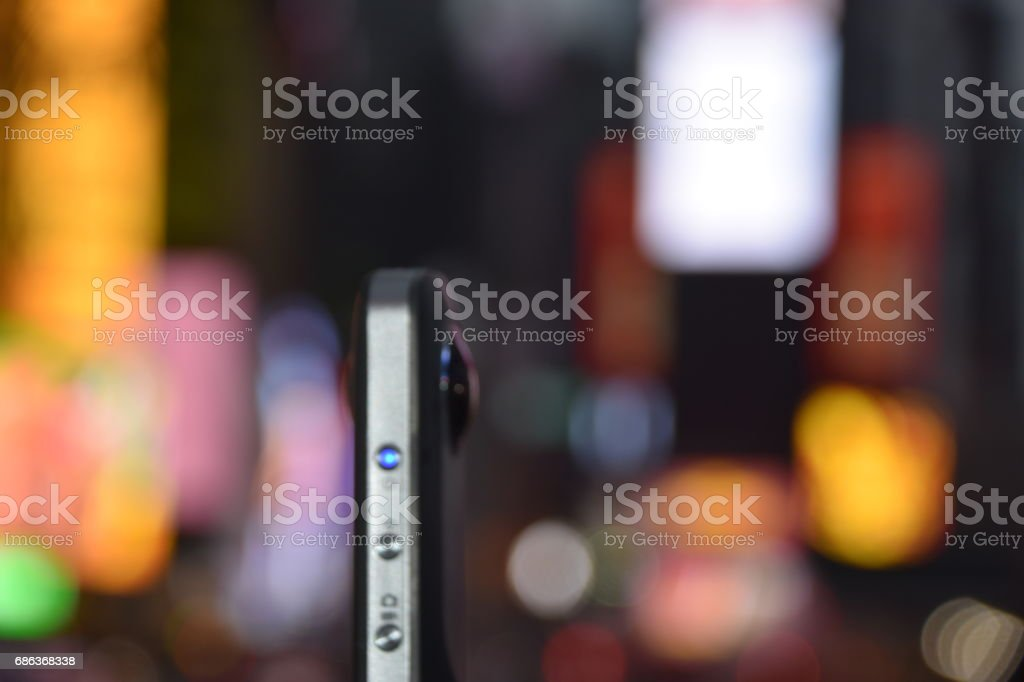 360 camera in Times Square, New York stock photo