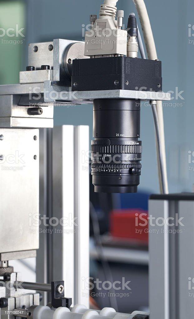 Camera inspection control stock photo