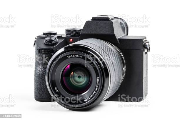 Camera isolated on white background with clipping path mirrorless picture id1140393948?b=1&k=6&m=1140393948&s=612x612&h=oi3ytv0n787s1kr3omswalhxvyekkg8upra8ofae9v8=