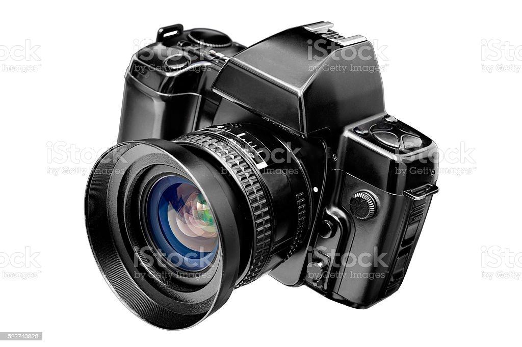 Câmera SLR Isolado no branco - foto de acervo