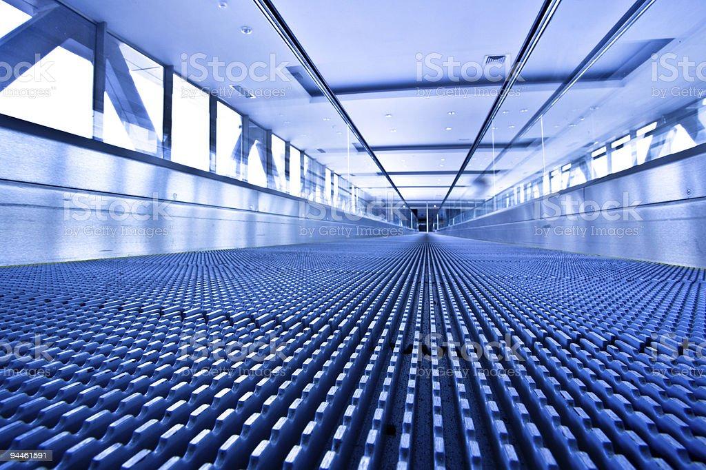 Camera lay on escalator view royalty-free stock photo