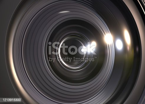camera lens, 3d, rendering, background, macro