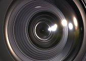 camera lens, 3d, rendering, background, macro