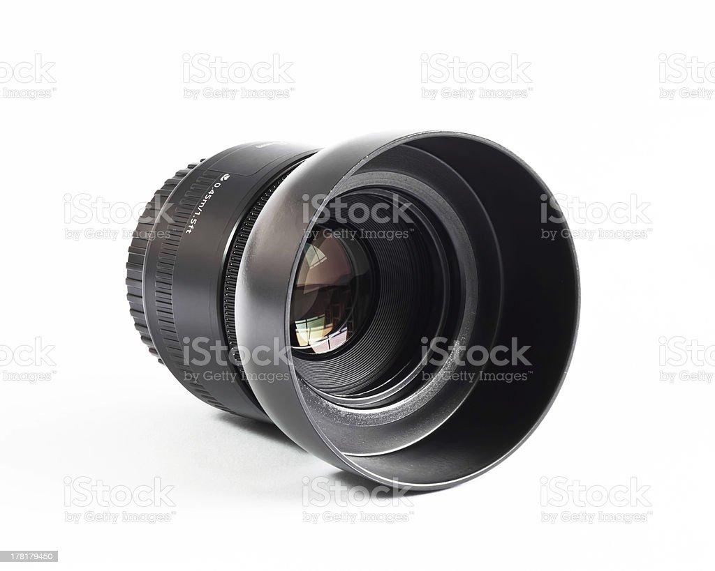 Camera lens 50 mm. stock photo