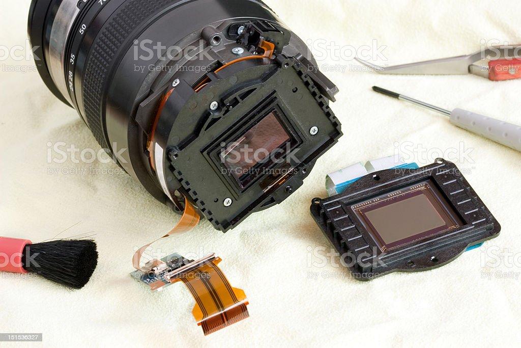 Camera lens and CMOS Sensor royalty-free stock photo