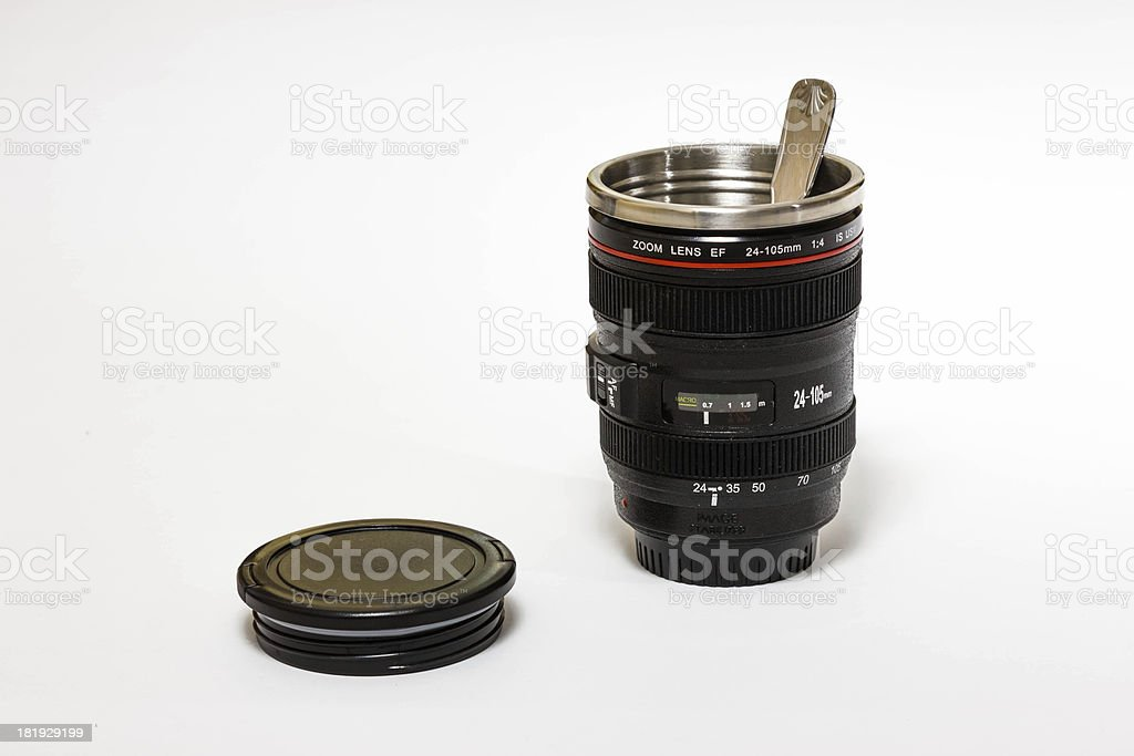 Camera Lens cup royalty-free stock photo