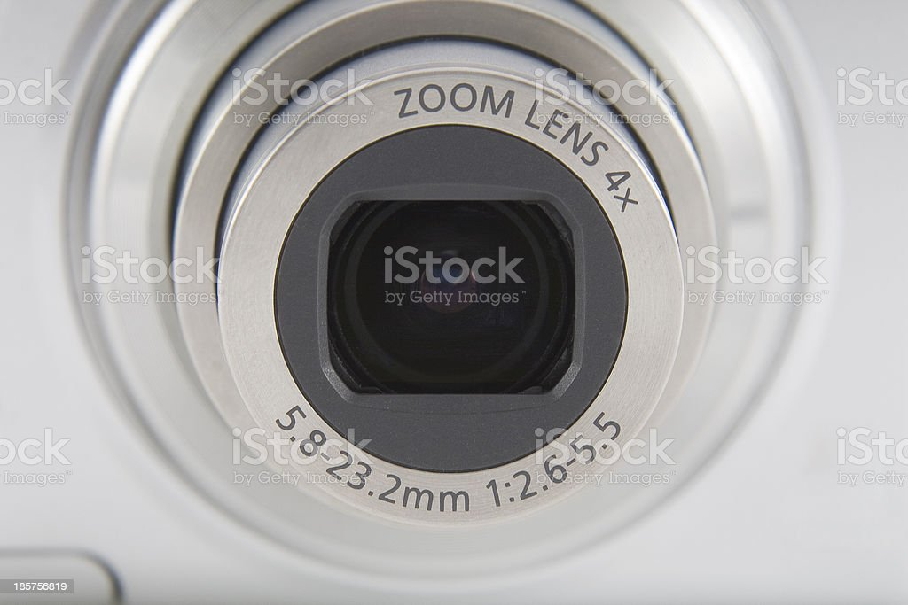 Camera lens front shot macro shuting royalty-free stock photo