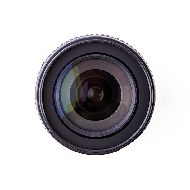 camera lens isolated on a white background - aperture stock pictures, royalty-free photos & images
