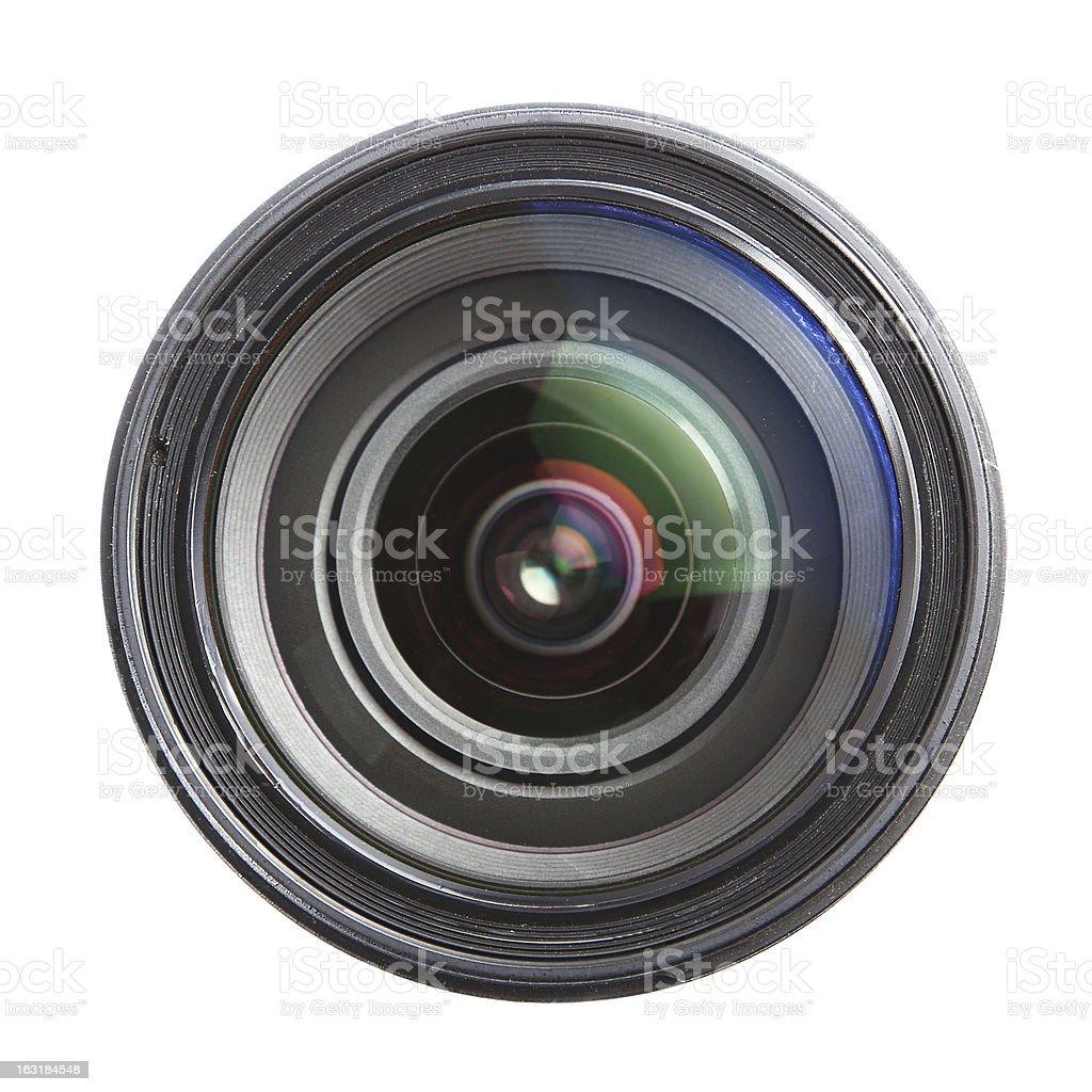 Camera lens isolated on white royalty-free stock photo