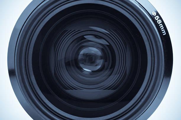 Camera lens macro stock photo
