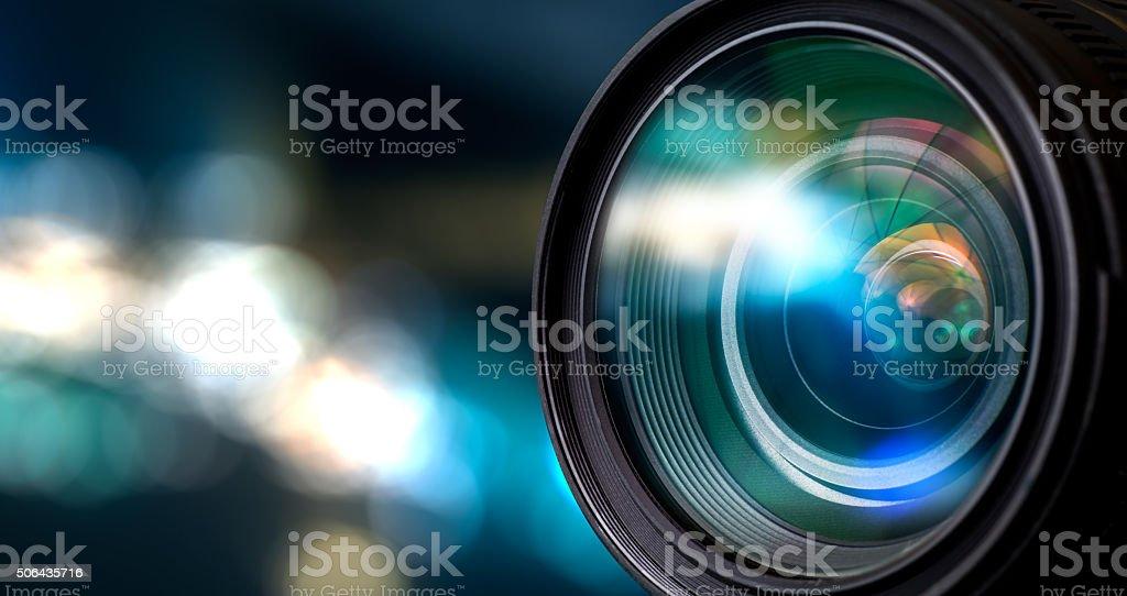 Obiettivo della telecamera - foto stock