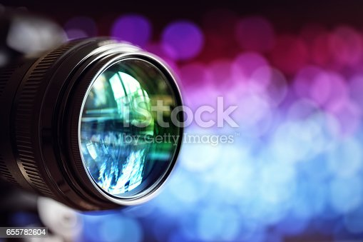 Digital camera lens with copy space