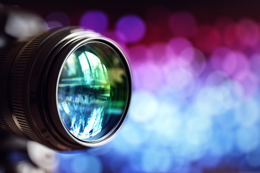 heap of colored photographic lens full frame,multicolor background
