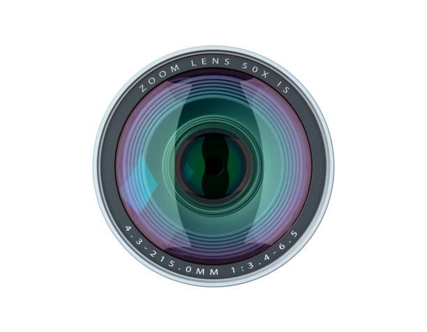 cameralens - telelens stockfoto's en -beelden